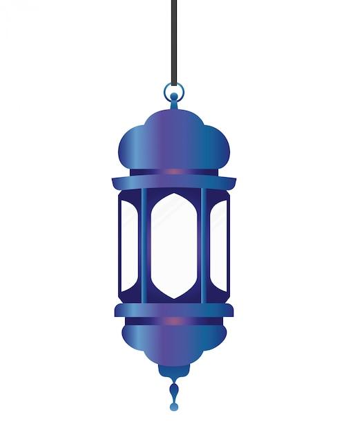 Ramadan kareem lanterna pendurado Vetor Premium