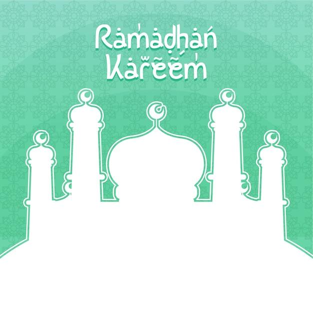 Ramadhan kareem Vetor Premium