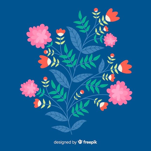 Ramo floral design plano Vetor grátis