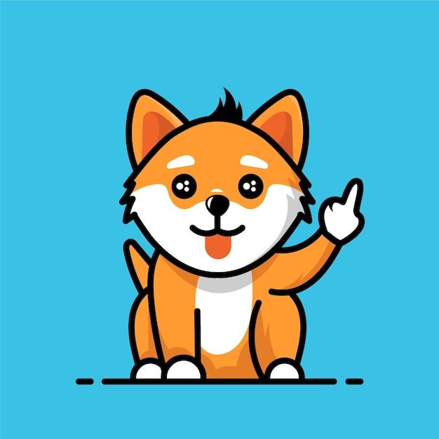 Raposa fofa mostrando o símbolo de foda-se Vetor grátis