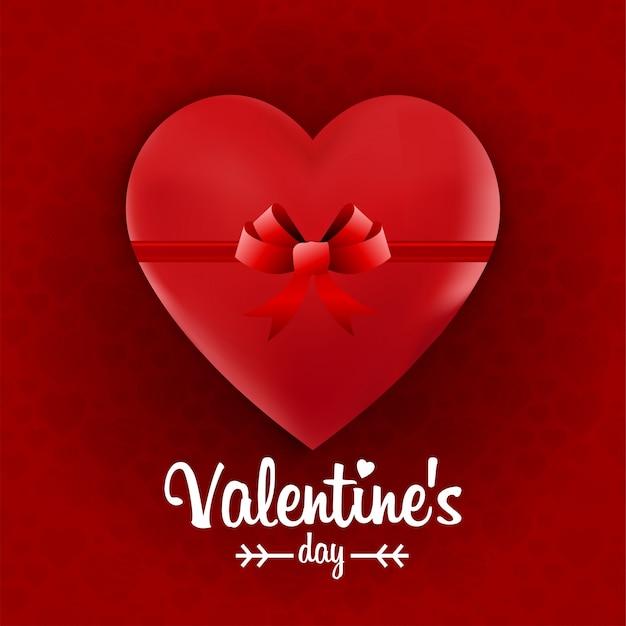 Raqueta do coração da fita do dia dos namorados Vetor grátis
