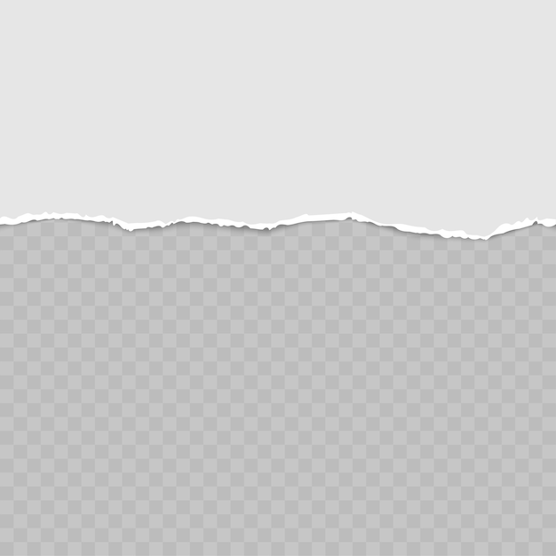 Rasgado tiras de papel cinza horizontais quadradas para texto ou mensagem. Vetor Premium