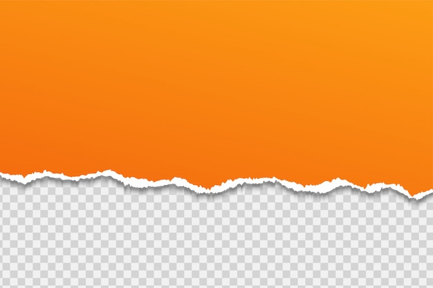 Rasgue o papel ou a borda em um fundo transparente. Vetor Premium
