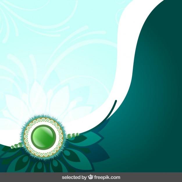 Rasksha verde bandsha fundo Vetor grátis