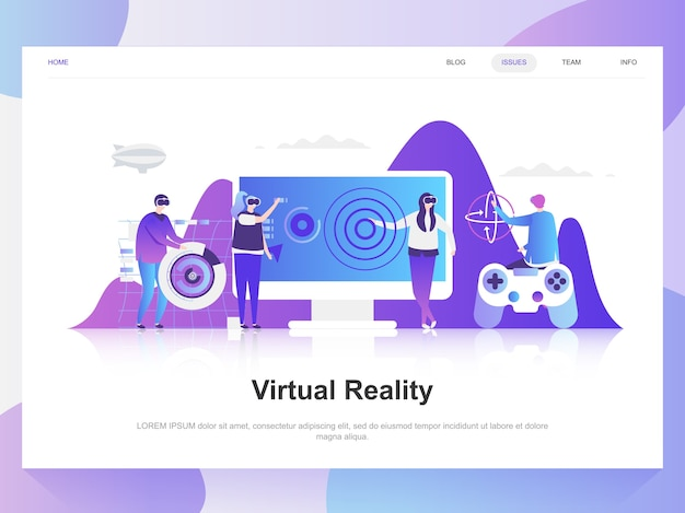 Realidade virtual aumentada Vetor Premium