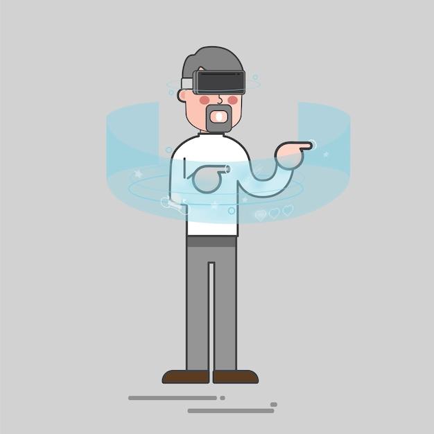Realidade virtual Vetor grátis