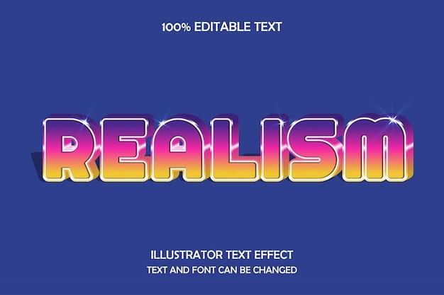 Realismo, efeito de texto editável 3d roxo roxo rosa gradação estilo moderno sombra Vetor Premium