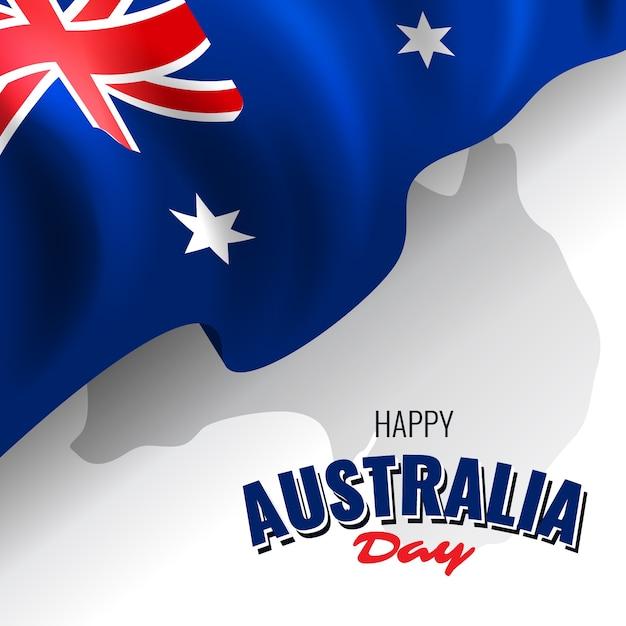 Realista feliz dia da austrália Vetor grátis