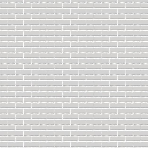 Realista luz fundo da parede de tijolo cinza. Vetor Premium