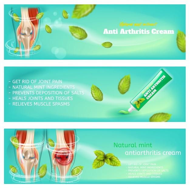 Realistic 3d image medical medicação medicação gel conjunto de banner Vetor Premium