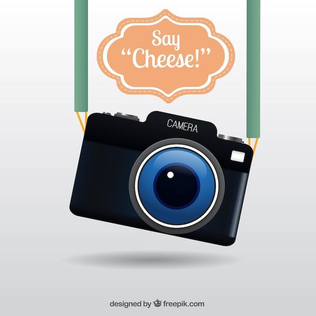 Realistic cute câmera Vetor grátis