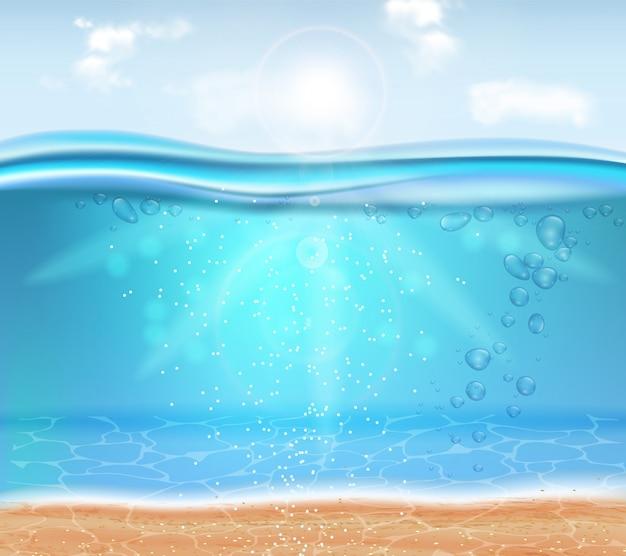 Realístico subaquático Vetor Premium