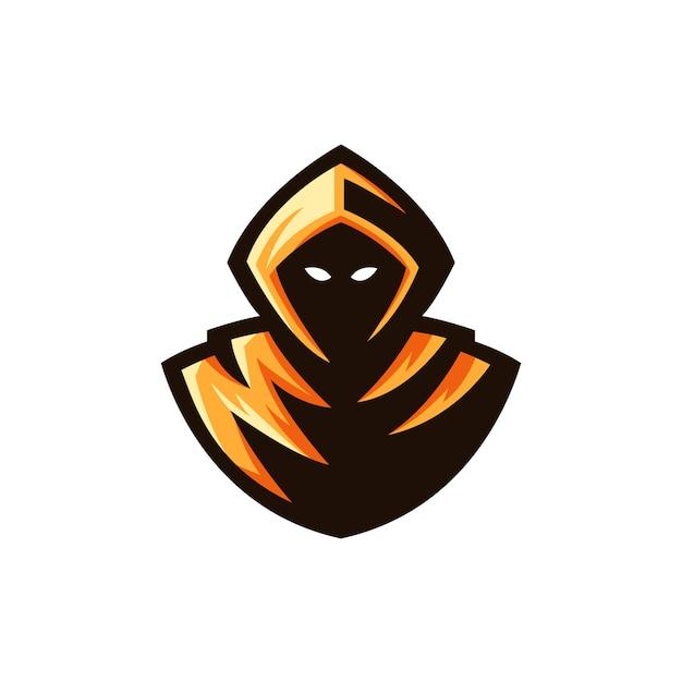 Reaper logo ilustração de mascote Vetor Premium