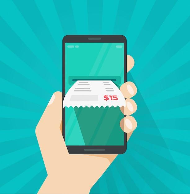 Receber fatura no celular ou telefone celular Vetor Premium