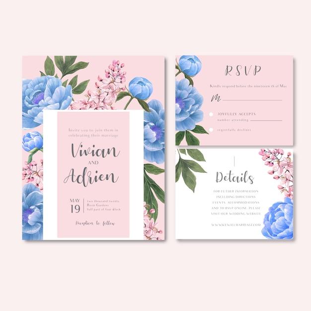 Recepção de casamento flores com folhagem pastel Vetor grátis