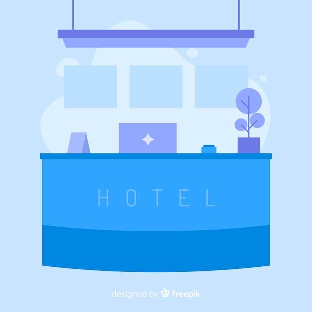 Recepção do hotel Vetor grátis