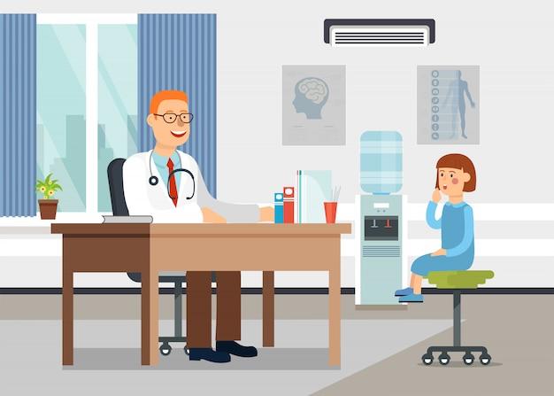 Recepção no oftalmologista. Vetor Premium