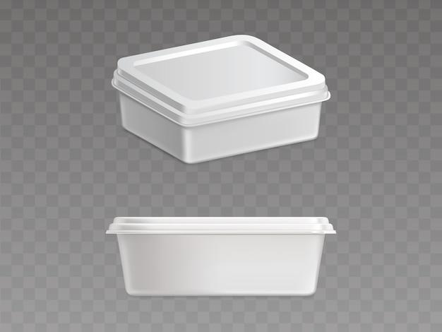 Recipiente plástico selado para produtos alimentares Vetor grátis