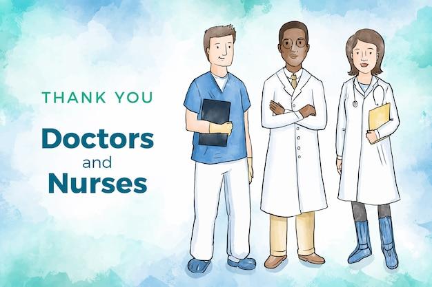 Reconhecimento de profissionais médicos Vetor grátis