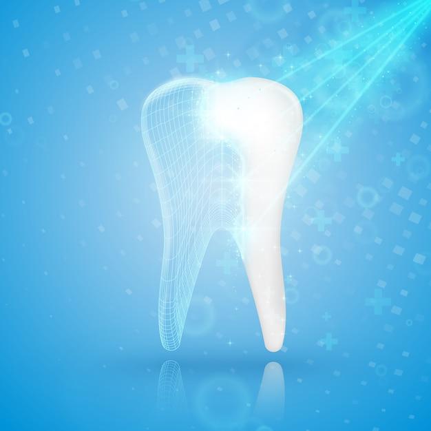 Reconstrução dentária. Vetor Premium