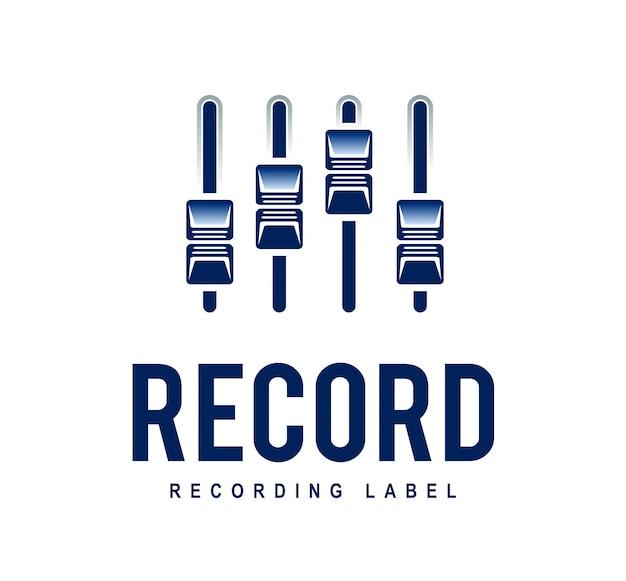 Record logo Vetor grátis