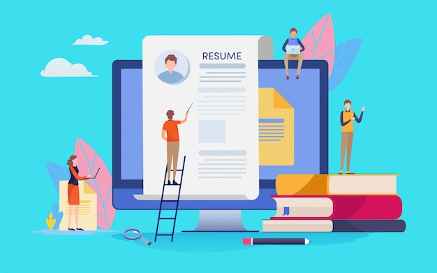 Recrutamento online. Vetor Premium