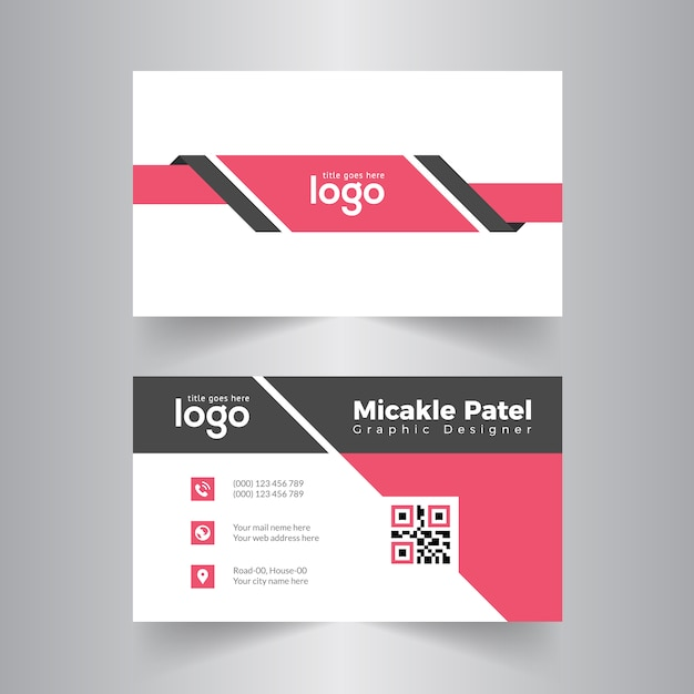 Red abstract business card vector design baixar vetores premium red abstract business card vector design vetor premium reheart Gallery