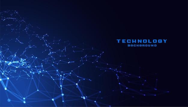 Rede de conexão de malha poli baixa tecnologia Vetor grátis