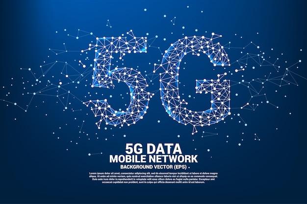 Rede de rede móvel 5g. Vetor Premium