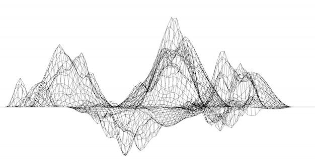 Rede de teia de aranha abstrata Vetor Premium