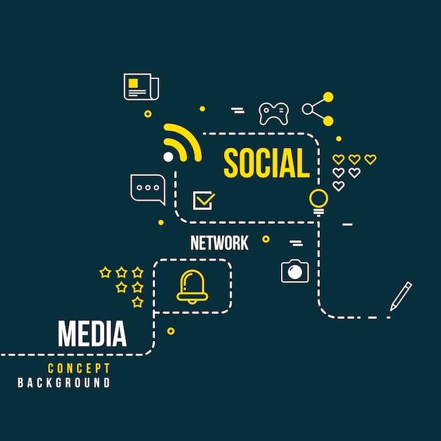 Rede social comunitária abstrata Vetor Premium