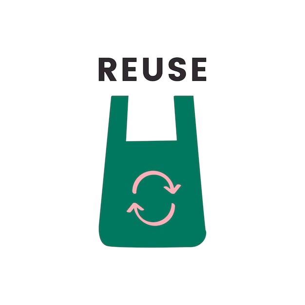Reduza o ícone de reutilização e reciclagem Vetor grátis