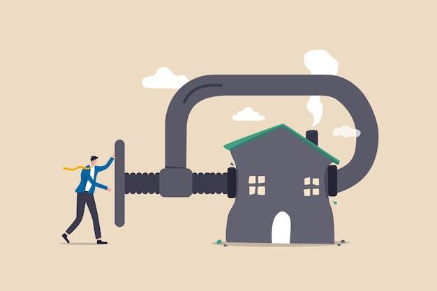 Refinanciar hipotecas imobiliárias, reduzir custos e pagamento de juros Vetor Premium