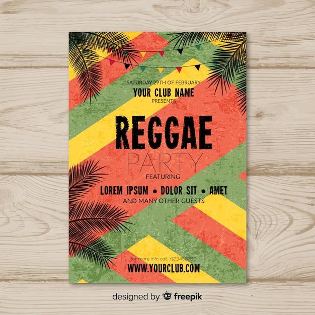 Reggae party flyer Vetor grátis