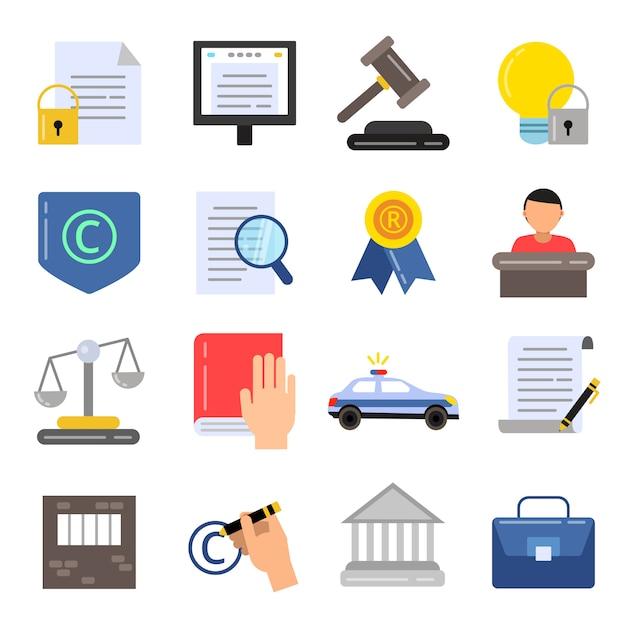 Regulamentação legal de direitos autorais. Vetor Premium