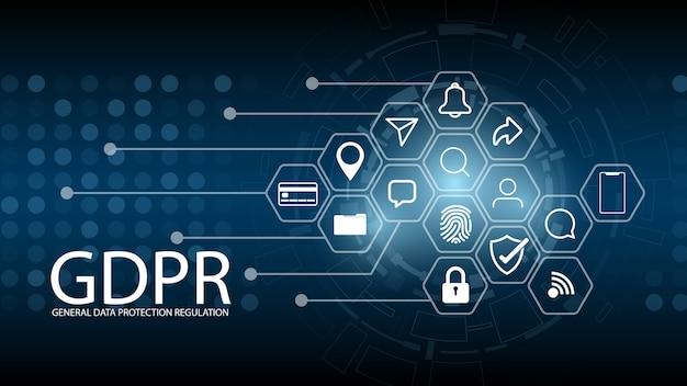 Regulamento de proteção de dados Vetor Premium