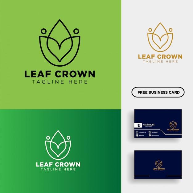 Rei ou real agricultura logotipo modelo vector illustration Vetor Premium