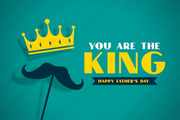 Rei pais dia conceito banner com coroa Vetor grátis