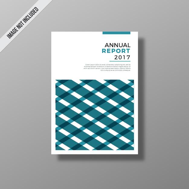 Relatório anual azul e branco Vetor grátis