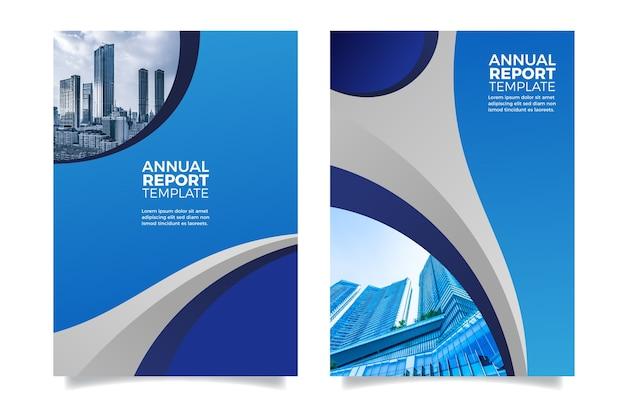 Relatório anual de design design futurista Vetor grátis