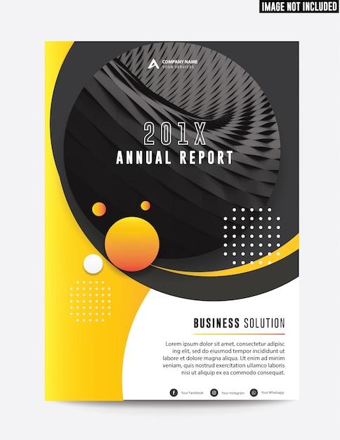 Relatório anual de negócio corporativo limpo plano Vetor Premium