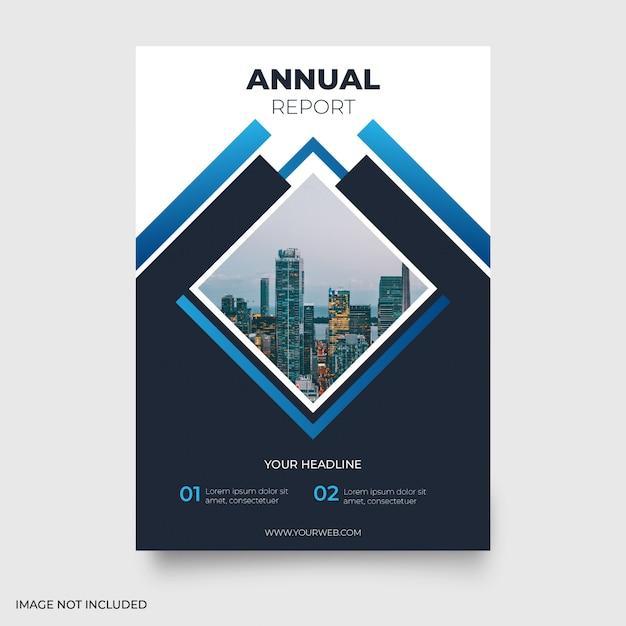 Relatório anual moderno Vetor grátis