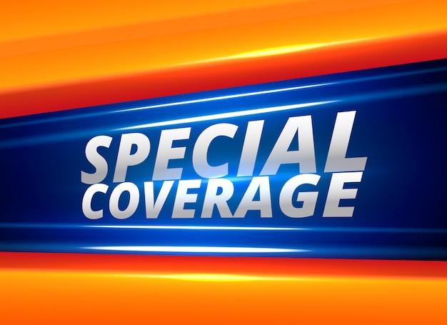 Relatório de notícias de cobertura especial alerta fundo Vetor grátis