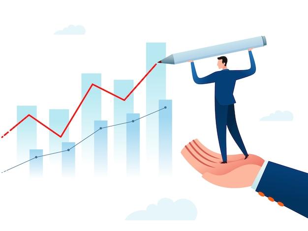 Relatório de progresso de negócios Vetor Premium