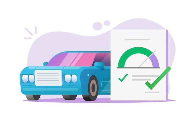 Relatório do documento do formulário de teste da lista de verificação automática do carro Vetor Premium