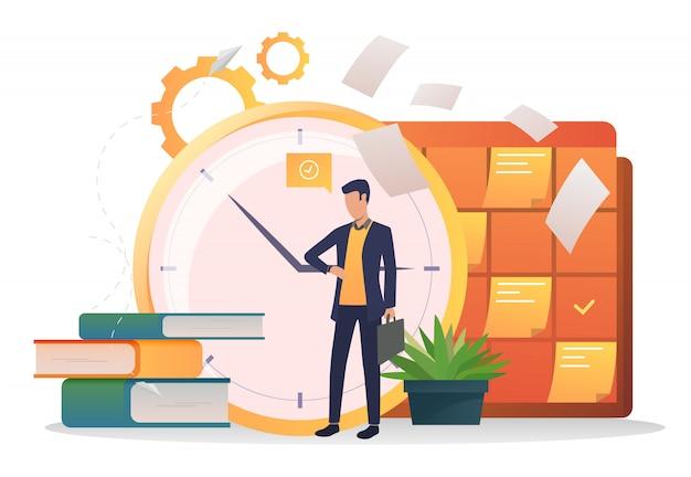 Relógio de consultoria de empresário Vetor grátis