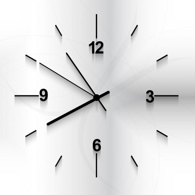 Relógio de parede de fundo Vetor grátis