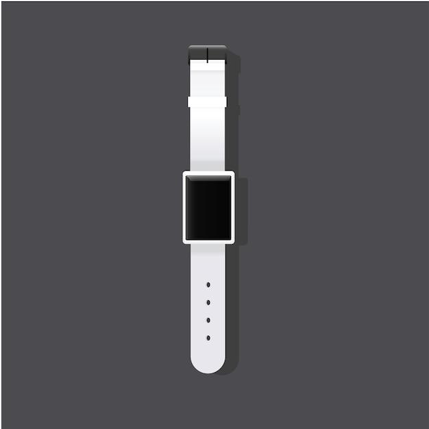 Relógio de pulso tempo elegante icon ilustração vetorial Vetor grátis