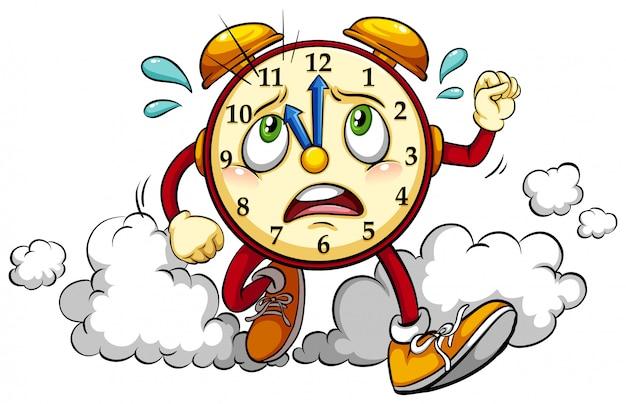 Relógio mostrando a décima primeira hora Vetor grátis