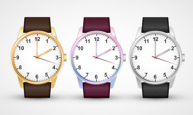 Relógios de pulso Vetor Premium